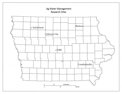 locations of all sites on iowa map